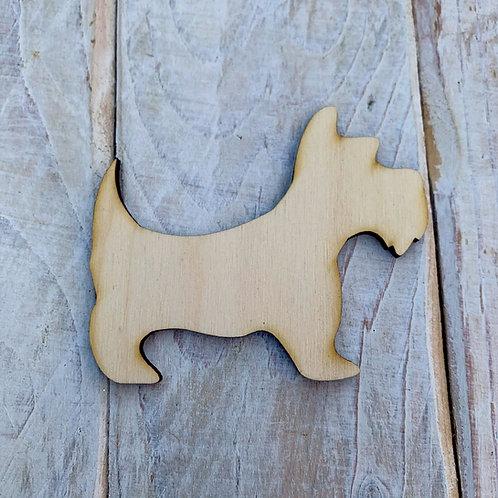 Plywood SCOTTIE DOG Shape 10 PACK