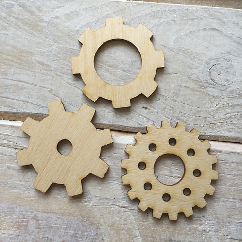 Plywood COG WHEEL Shapes 10 PACK