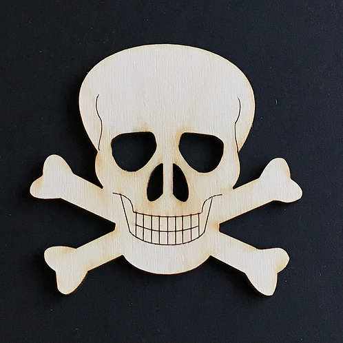 Plywood 10 Pack Shape Skull & Crossbones