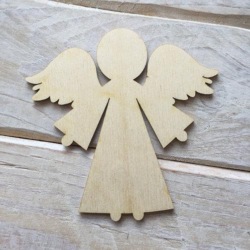 Plywood ANGEL Shape 10 PACK