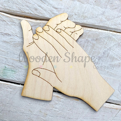 Plywood Clapping Hands Shape 10 Pack