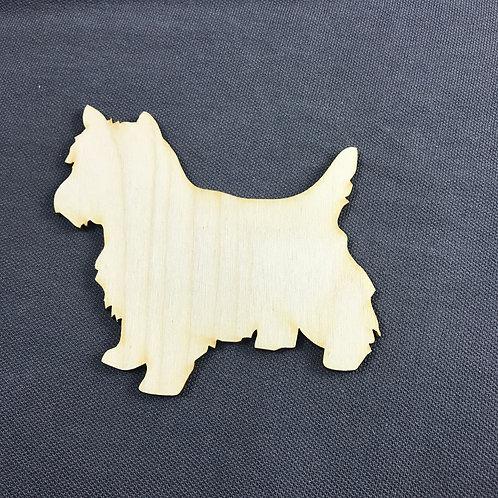 Plywood Yorkie Shape 10 PACK