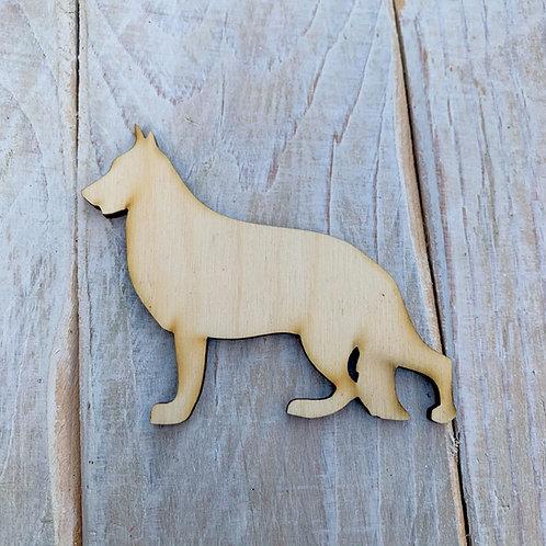Plywood German Shephard Dog Shape 10 PACK