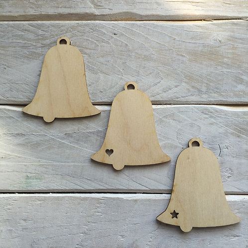 10 Pack Christmas Decorations Bells