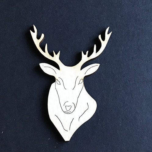 Plywood 10 Pack Shape Stag Head