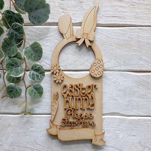 Door Hanger Layered Easter Bunny