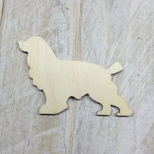 Plywood Cocker Spaniel Dog Shape 10 PACK