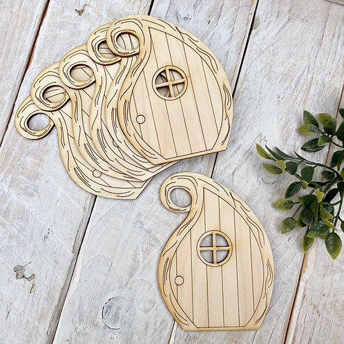 6 Pack Plywood Fairy Doors Code Flat CT