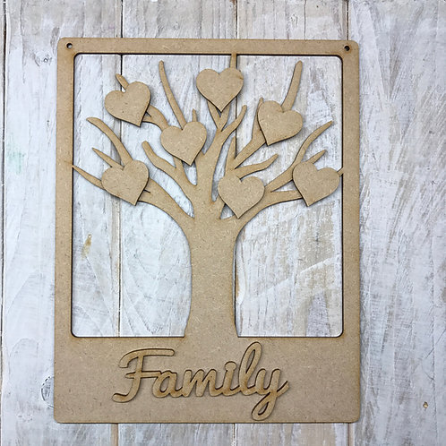 MDF Wooden Tree Code Frame Branch