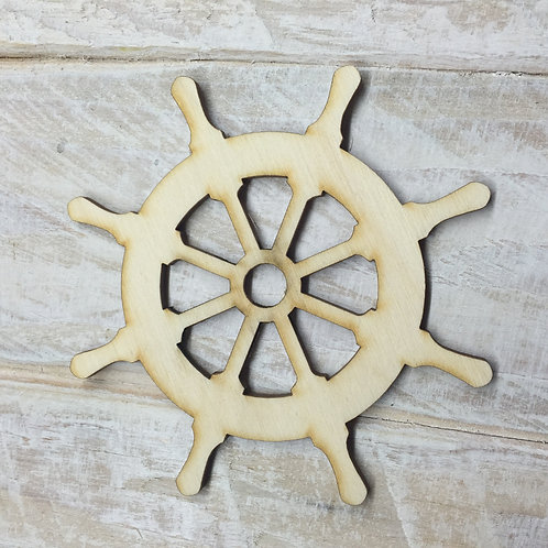 Plywood Ship Wheel Helm 10 PACK