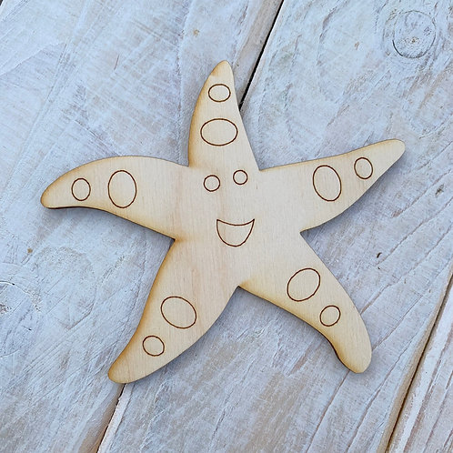 Plywood Starfish Detail 10 Pack