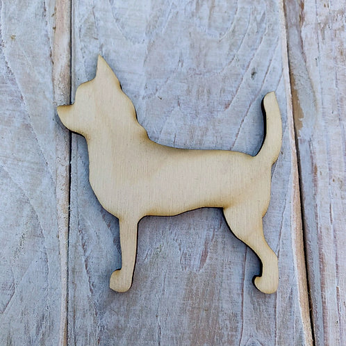 Plywood Chihuahua Straight Dog Shape 10 PACK