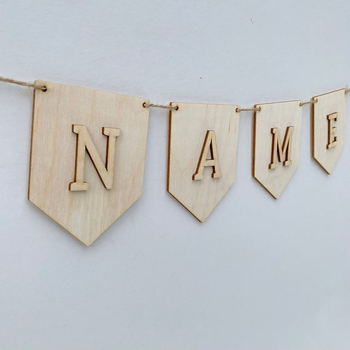 Pendant P Bunting with Letters