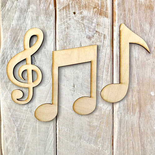 Plywood Musical Note Collection 10 Pack