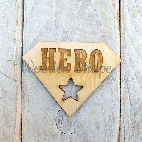 Plywood Engraved Hero Token 5 Pack