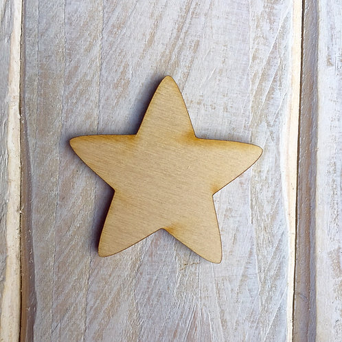 Plywood Star Craft Shape 10 PACK