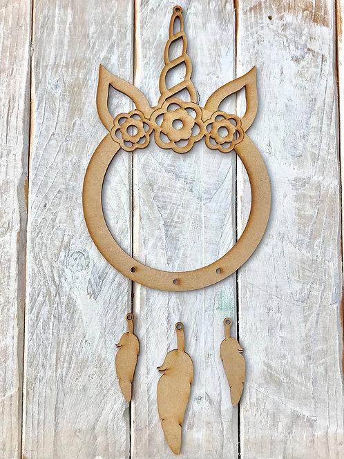 Dream Catcher FLORAL Unicorn Horn Ring FLORAL