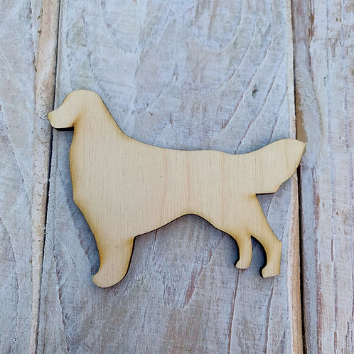 Plywood Golden Retriever Dog Shape 10 PACK