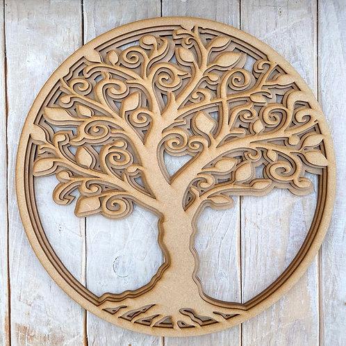 Multi Layered MDF Family Tree Circle Kit
