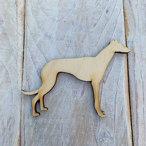 Plywood Whippet Dog Shape 10 PACK
