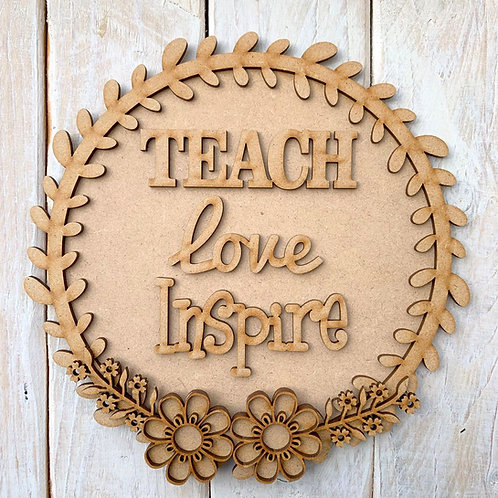 Laurel 1 Layered Hoop Kit Backboard Teach Love Inspire