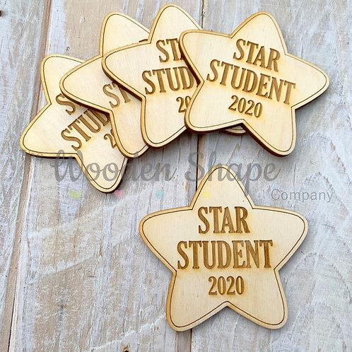 5 Pack Engraved Card Sentiment Star Student 2020