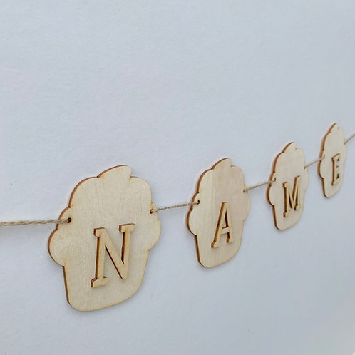 Cupcake Bunting with Letters