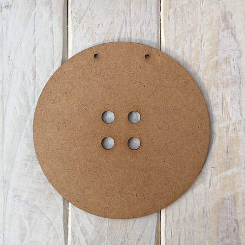 MDF Button Shape Plaque