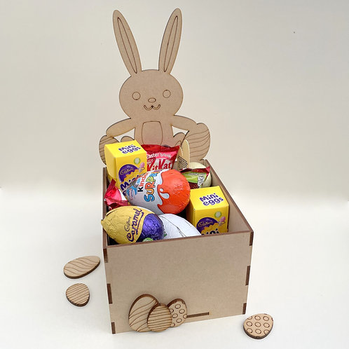MDF Easter Fillable Treat Box Sitting Bunny