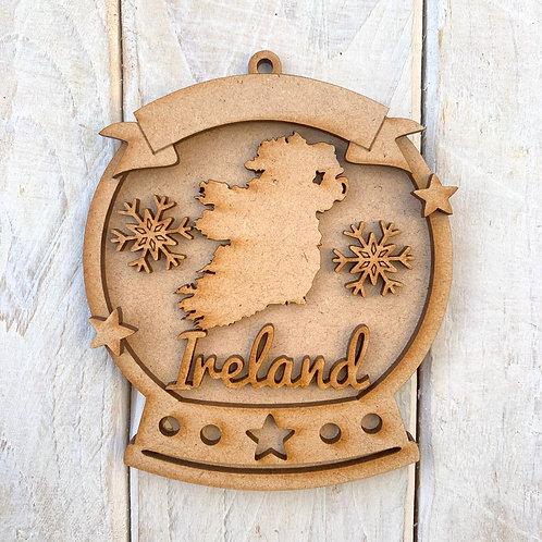 Layered Snow Globe Bauble Ireland