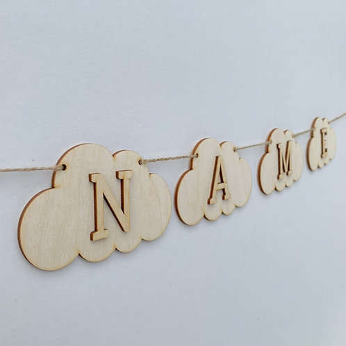 Cloud Bunting with Letters