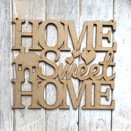 MDF HOME SWEET HOME Wording Wall Art