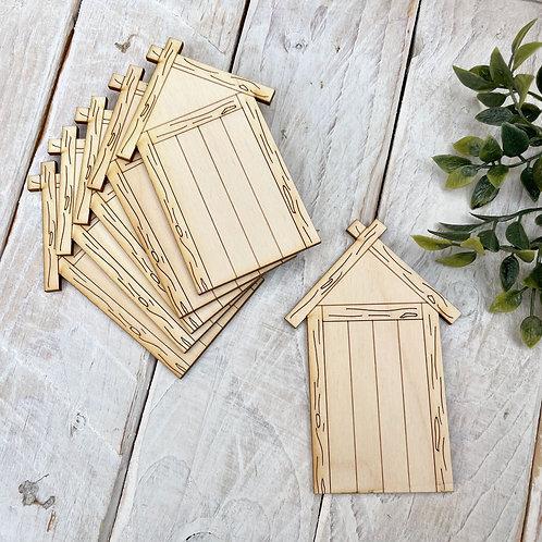 6 Pack Plywood Fairy Doors Code Flat BHT