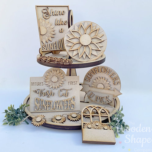 Sunflower Theme Tiered Tray Kit
