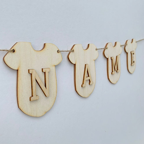 Vest Bunting with Letters