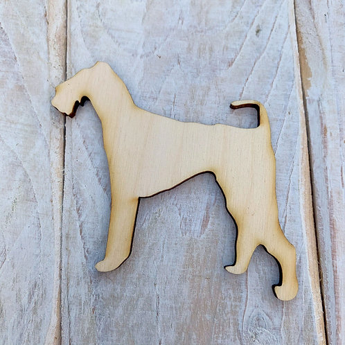 Plywood Airdale Dog Shape 10 PACK