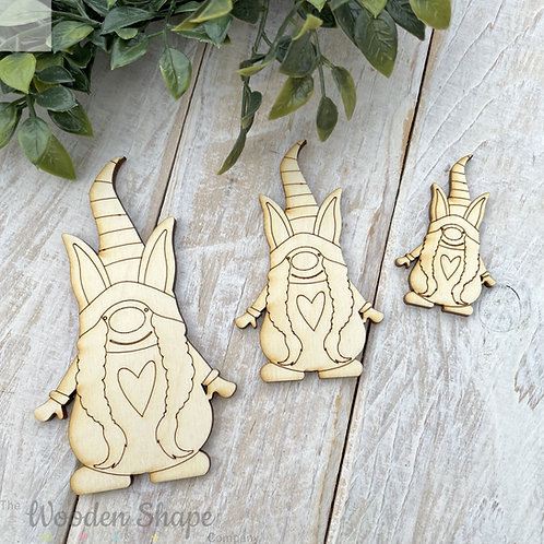 Plywood Shapes Easter Gnome Girl 10 Pack