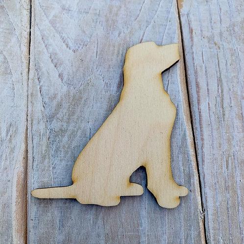 Plywood Sitting Labrador Dog Shape 10 PACK