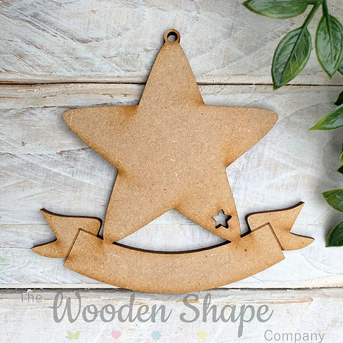 Bauble Star with Banner