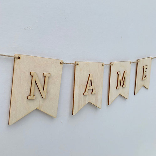 Pendant I Bunting with Letters