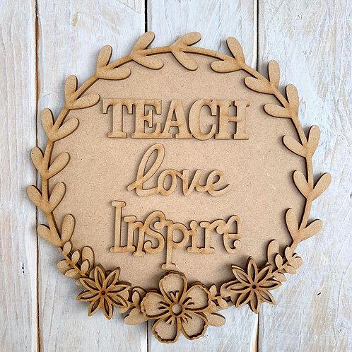 Laurel 2 Layered Hoop Kit Backboard Teach Love Inspire