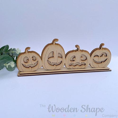 4 Pumpkins on Stand