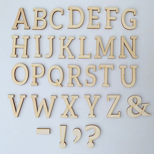 Plywood Letters
