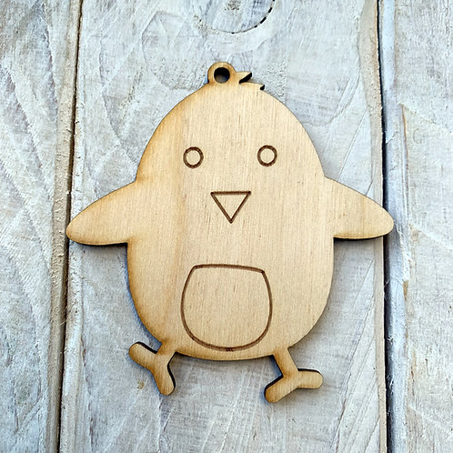 Plywood Easter Chick 10 Pack