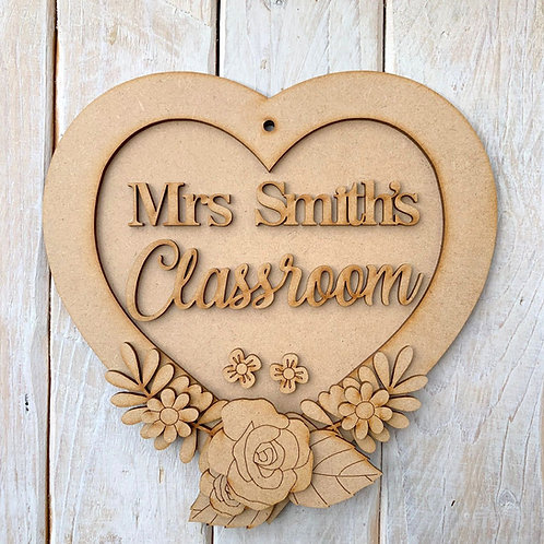 Layered Heart Frame Kit 20cm Classroom