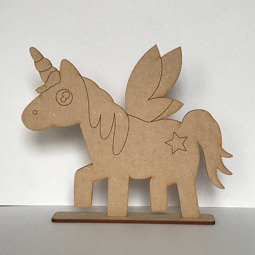 MDF Unicorn on Stand A