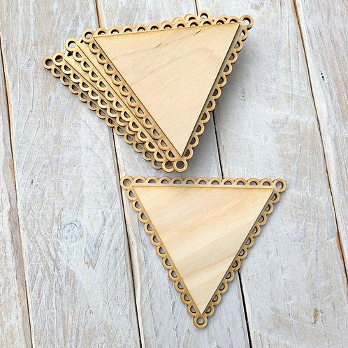 10 Pack Bunting Layered Scallop