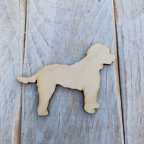 Plywood Cockapoo Side Dog Shape 10 PACK