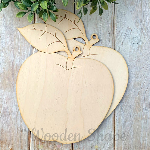 2 Pack Birch Plywood Plaque Apple