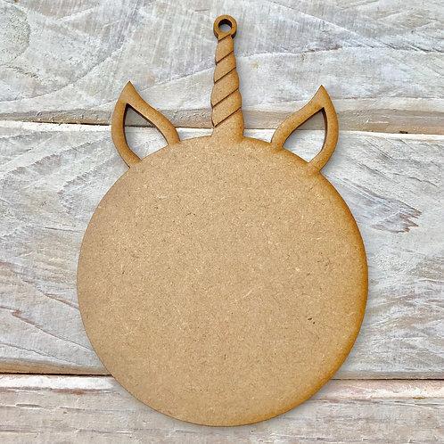5 Pack MDF Unicorn Horn Bauble